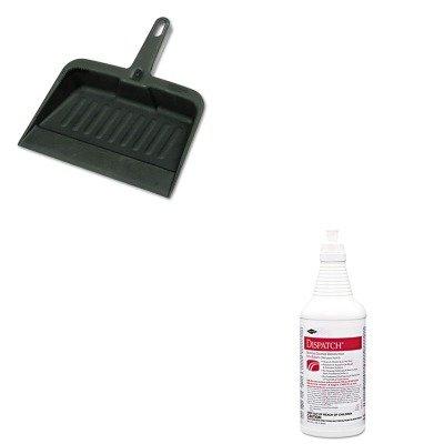 KITCOX68832RCP2005CHA - Value Kit - Clorox Hospital Cleaner Disinfectant w/Bleach (COX68832) and Rubbermaid-Chrome Heavy Duty Dust Pan (RCP2005CHA) by Clorox