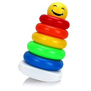 Ratna's Junior Smiley Stacking Multicolour 5 Rings for Toddlers