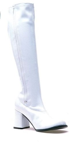 Women's Shoes 3 Inch Gogo Boots With Zipper (White;11) (White Gogo Boots For Kids)