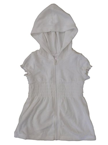 Infant & Toddler Girls White Hoodie Swim Suit Cover up Coverup 5T by Circo