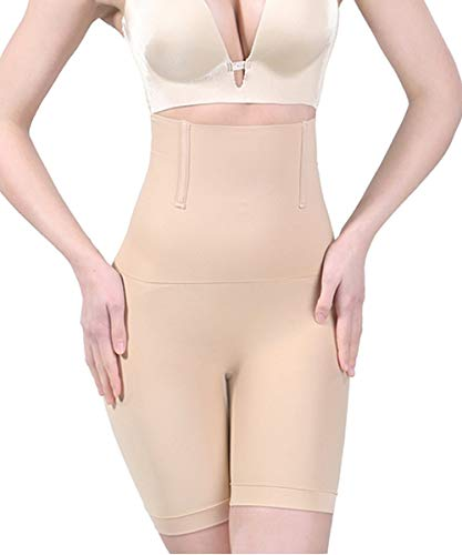 Jenbou Women's Hi-Waist Body Shaper Butt Lifter Shapewear Trainer Tummy Control Panties Seamless Thigh Slimmers Cincher Nude