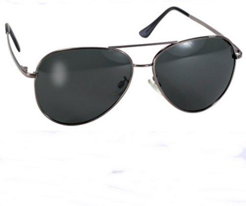 Amazon.com: Kickstart Polarized Pilot Aviator Sunglasses Large Frame ...