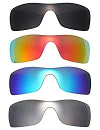 Set of 4 Polarized Replacement Lenses for Oakley Batwolf Sunglasses NicelyFit