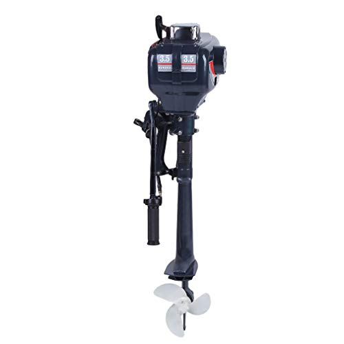 COMOTS 2 Stroke 3.5HP Boat Motor Heavy Duty Outboard Motor Boat Engine with Water Cooling System Fishing Boat Engine