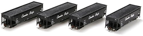 Athearn HO Scale 40' 3-Bay Offset Hopper/Load Canadian Pacific/CP Rail 4-Pack #1
