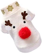 UKCOCO Hondenkleding - Eland Patroon Kerst Huisdier Kostuums Ademende Hondenkleding Grappige Hondenkostuums Kleding Voor Huisdieren Voor Hond Puppy
