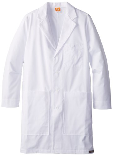 Barco Lab Coat - ICU by Barco Men's 37 Inch 6 Pocket Side Access Lab, White, 38