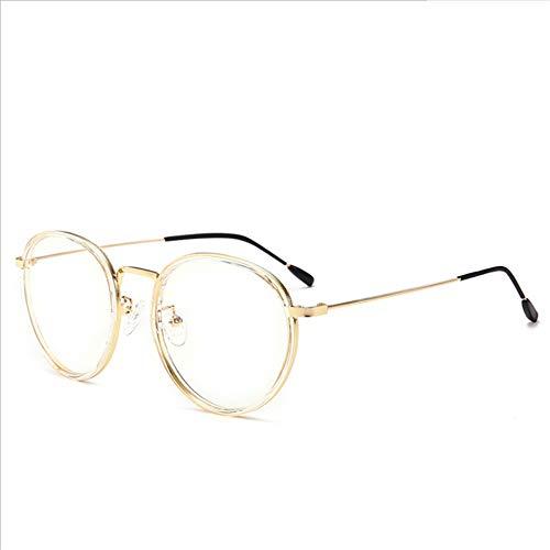 De Redonda Blu Espejo Cara Anti Transparent Retro Gafas Ray De Color Plano  Marco Gafas dvCqwad 8bcef5657ce0