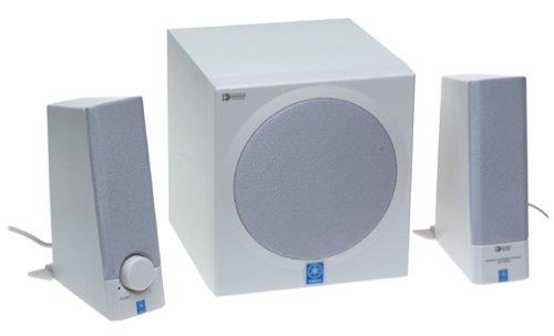 Yamaha YSTMS201W 30-Watt 2.1 Computer Speakers (3-Speaker, White)
