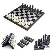 Portable Chess Computer (Chess Board Board Game Toys - Portable 2 1 Magnetic Foldable International Chess Checkers Board Games Toy - Circuit Card Bromus Secalinus Room Panel Dining Table Cheat - 1PCs)