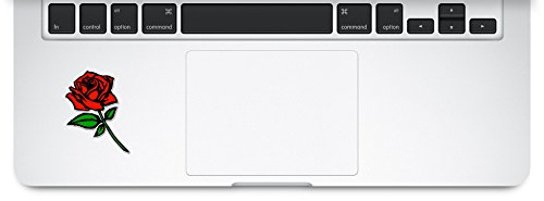 Red Rose Trackpad,Compatible with MacBook Retina, MacBook Air, MacBook Pro Wicked Decals Laptop Decal Sticker - RR-006