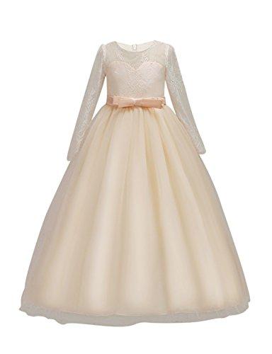 DOCHEER Fancy Girls Dress Tulle Lace Wedding Bridesmaid