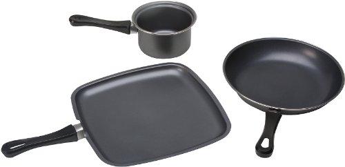 KitchenWorthy 3 Piece Non-Stick Cookware Set