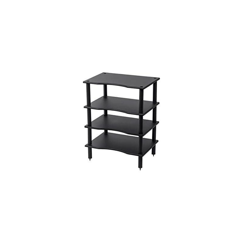 Monolith 4 Tier/Shelf Audio Stand - Blac