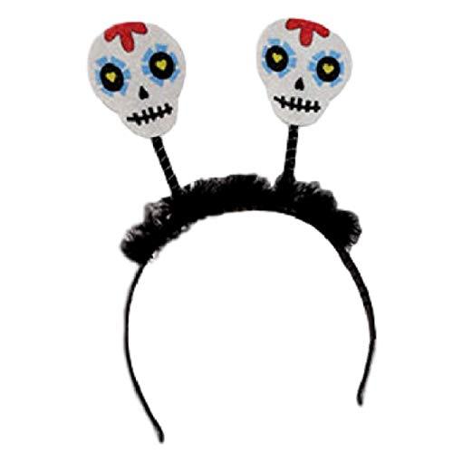 Halloween Headband Glittery Day of the Dead Skull