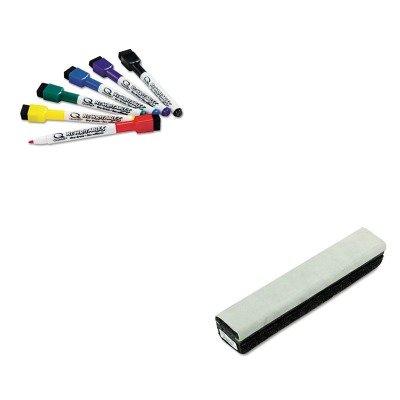KITQRT51659312QRT807222 - Value Kit - Quartet Deluxe Chalkboard Eraser/Cleaner (QRT807222) and Quartet ReWritables Dry Erase Mini-Markers (Qrt807222 Deluxe Chalkboard Eraser)