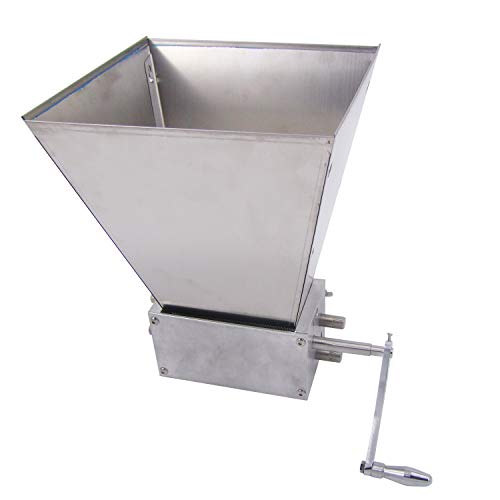 HFS (R) Grain Mill with 11 lb. Hopper and 3 Rollers,Stainless Steel Three Roller Malt Mill by HFS (Image #1)