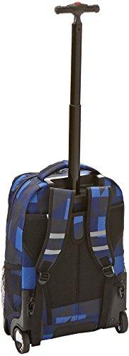 J World New York Sundance Rolling Backpack, Block Navy, One Size
