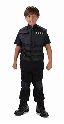 [Child's S.W.A.T. Costume Vest Black (Small (4-6))] (Swat Vest Costume)