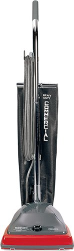 "Sanitaire SC679J Commercial Shock Out Bag Upright Vacuum Cleaner with 5 Amp Motor, 12"" Cleaning Path"
