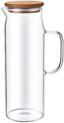 Toki - Jarra Agua Cristal 1.5 litros con Tapa de Bambú, Vidrio ...