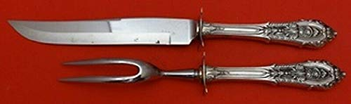 (Rose Point by Wallace Sterling Silver Steak Carving Set)