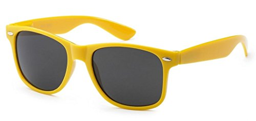 Sunglasses Classic 80's Vintage Style Design (Neon - Yellow Vintage Sunglasses