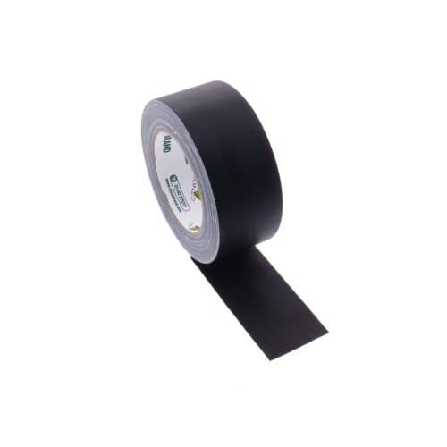 "1 Duck Brand 2"" Floor Stage Show Audio Cloth Black Gaffers Tape 75' 25 yd"