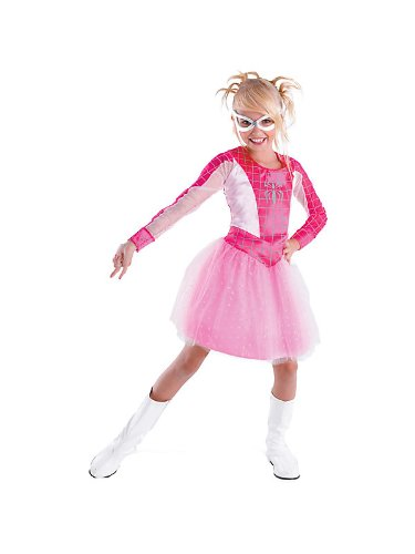 Kids Pink Suited Spider-girl Costume For Girls