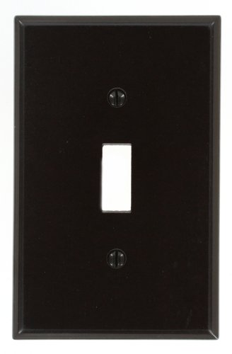 (Leviton 80501 1-Gang Toggle Device Switch Wallplate, Midway Size, Brown)