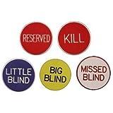 Professional 5 Piece Texas Hold'em Button Set