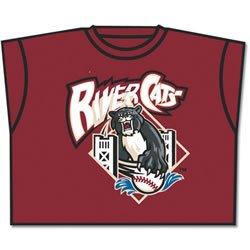 Minor League Sacramento River Cats T-Shirt Style Jersey (Adult - Sacramento Outlets