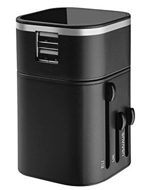 3200 Mah Mobile - Travel adapter universal international wall charger with dual usb charging ports uk eu us au plug socket 5v/3200mah safety fused for Apple iPod iPad Android Smartphone Digital Camera [Energy Class A+