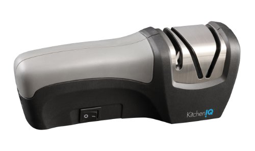 KitchenIQ 50029 Edge Gourmet Compact Electric and Manual Knife Sharpener