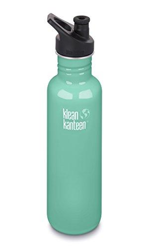 Klean Kanteen Classic Stainless Steel Single Wall Sport Water Bottle with Klean Coat and Leak Resistant Sport Cap 3.0-27oz - Sea Crest