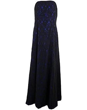 Calvin Klein Women's Full Length Illusion Lace Dress