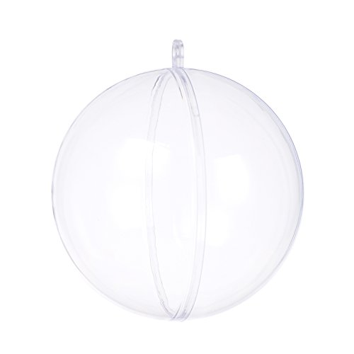 Seekingtag Clear Fillable Ornaments Ball - Pack of 10 Individual 80mm Ornaments (Ornament Clear Ball)