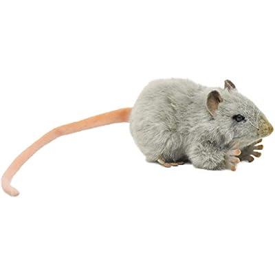 HANSA Mouse Plush, Gray: Toys & Games