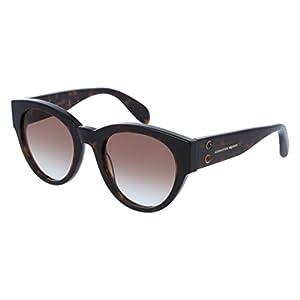 Sunglasses Alexander McQueen AM 0054 S- 003 HAVANA / BROWN