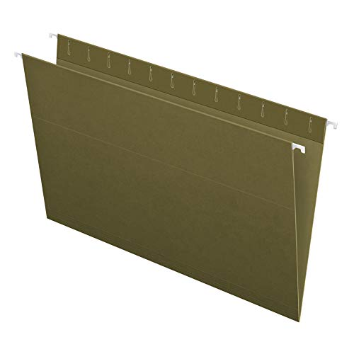 Pendaflex 81620EE Recycled Hanging Folders, Legal Size, Standard Green, 25/BX (81620)
