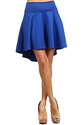 High Waisted Women's Hi Low Skater Skirt
