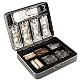 ** Cash Box with Combination Lock, 12 in, Charcoal