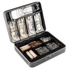 * Cash Box with Combination Lock, 12 in, Charcoal