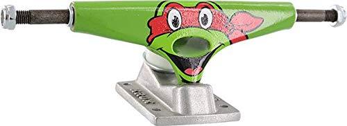 - Krux Trucks Standard TMNT Raphael Green/Silver Skateboard Trucks - 5.35