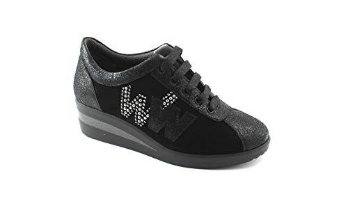 Negros de Nero en para R25825 MELLUSO con Confort Deportivos Cordones Walk cuña Mujer Zapatos xOfzq6Ifw