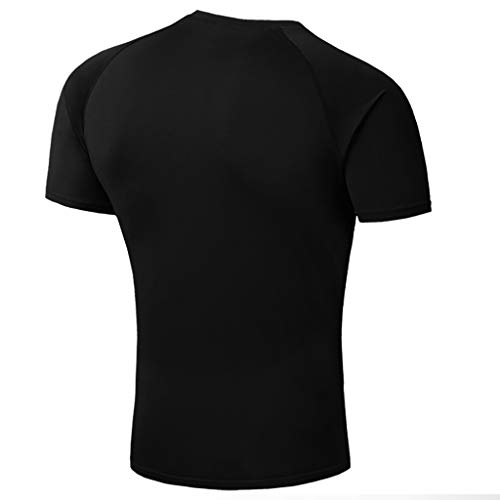 (Colmkley Tops Blouse, Men's Casual Slim Fit Solid Color Short Sleeve T Shirt)