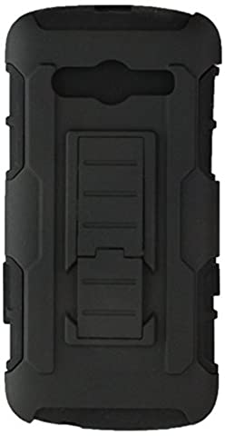 Asmyna Car Armor Stand Protector Rubberized Case for Samsung Galaxy Avant - Retail Packaging - (Zte Warp Sync Rubber Phone Case)
