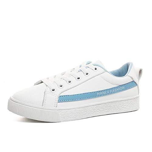 tacón Deporte de Cerrada ZHZNVX Poliuretano Puntera Mujer Azul Zapatillas Zapatos Rojo Verano PU Blue Primavera con Plano de Plata qwnpYng0xP