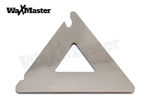 3-in-1 Metal Snowboard Wax Scraper - Stainless Steel Triangle Multi Tool - 5'' by WaxMaster