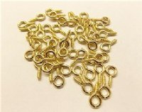 #214 Brass Plated Screw Eye - Lot of 100